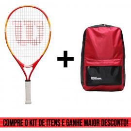 Imagem - Kit Raquete de Tênis Infantil Us Open 21 + Mochila Lazer Vermelha - Wilson