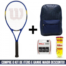 Imagem - Kit Raquete de Tenis US Open + Mochila Lazer Overgrip Pro Sensation Feel e Tubo Championship - Wilson