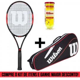 Imagem - Kit Raquete Federer Control 103 + Raqueteira ESP 3R + Tubo de bola Championship - Wilson