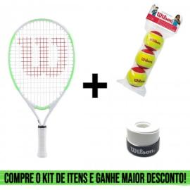 Imagem - Kit Raquete Infantil US Open 19 Mais Pacote de Bola Vermelha e Overgrip Ultra Wrap - Wilson