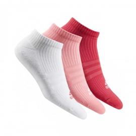 Imagem - Meia Adidas Cano Curto Liner Cushion 3P Rosa ao Branco c/ 3 Unidades - 35 ao 38