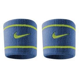 Imagem - Munhequeira Dri-Fit Azul e Verde Curta c/ 02 Unidades - Nike