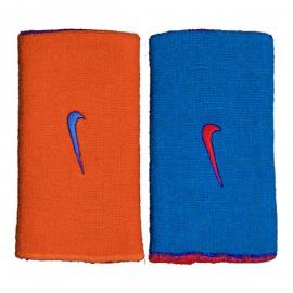 Imagem - Munhequeira Dupla Face Dri-Fit Home e Away Laranja e Azul - Nike - NIM060