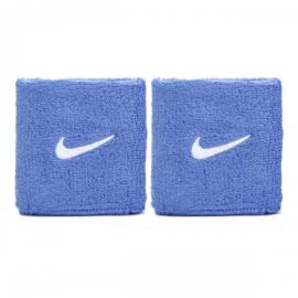 Imagem - Munhequeira Swoosh Azul e Branco Curta c/ 02 Unidades - Nike