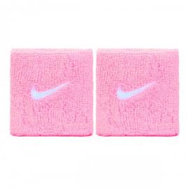Imagem - Munhequeira Swoosh Rosa e Branco Curta c/ 02 Unidades - Nike