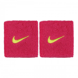 Imagem - Munhequeira Swoosh Rosa e Verde Curta c/ 02 Unidades - Nike - NIM015