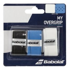 Imagem - Overgrip My Grip X3 Preto Branco e Azul - Babolat