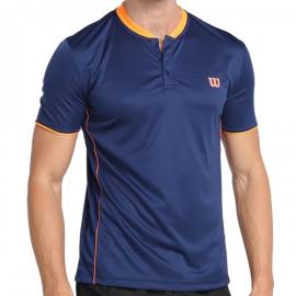 Imagem - Camiseta Polo Tour Mao II Marinho e Neon - Wilson