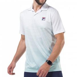 Imagem - Camiseta Polo Aus Branca e Azul - Fila