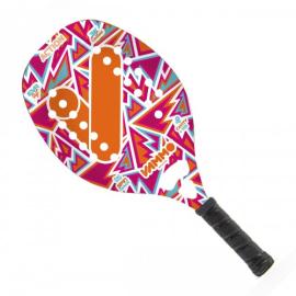 Imagem - [PRÉ-VENDA] Raquete de Beach Tennis Action Rosa, Laranja e Azul - Vammo