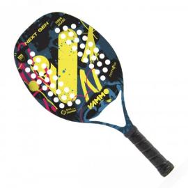 Imagem - [PRÉ-VENDA] Raquete de Beach Tennis Next Gen Amarelo, Preto e Rosa - Vammo