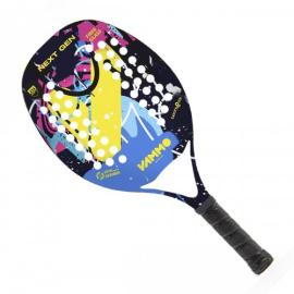 Imagem - [PRÉ-VENDA] Raquete de Beach Tennis Next Gen Azul, Amarelo e Preto - Vammo