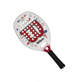 Imagem - Raquete de Beach Tennis WS 25.20 Infantil Branca e Vermelha - Wilson