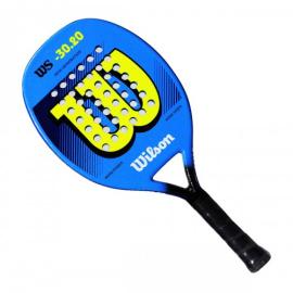 Imagem - Raquete de Beach Tennis WS 30.20 Azul e Amarelo Modelo 2021 - Wilson