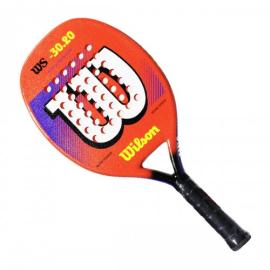 Imagem - Raquete de Beach Tennis WS 30.20 Laranja e Branca Modelo 2021 - Wilson
