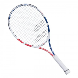 Imagem - Raquete de Tênis Infantil Drive Junior 24 Branco Rosa e Azul - Babolat