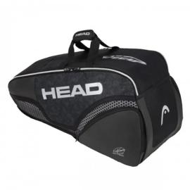 Imagem - Raqueteira Djokovic 6R Combi Preta Modelo 2020 - Head