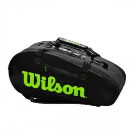 Imagem - Raqueteira Super Tour 9r Preta e Verde Modelo 2020 - Wilson