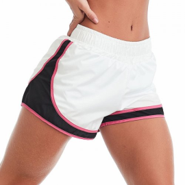 Imagem - Short Fitness Way Branco com Rosa - Caju Brasil