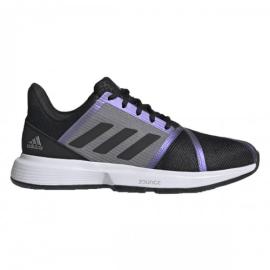 Imagem - Tênis Courtjam Bounce Roxo Preto e Cinza Modelo 2021 – Adidas