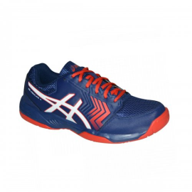 Imagem - Tenis Gel Dedicate 5A Azul e Vermelho - Asics