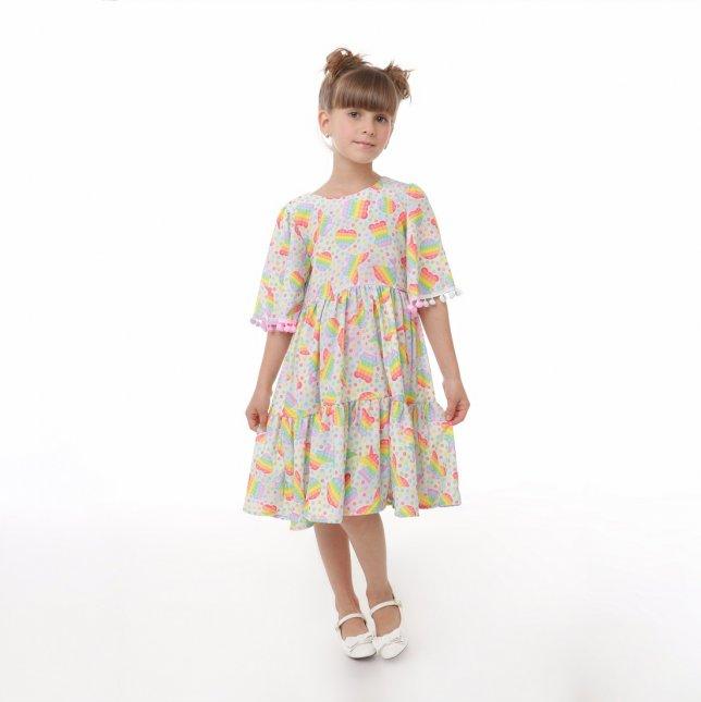 Vestido Infantil Cattai Pop It