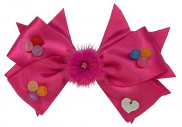 Imagem - Laço de Fita Infantil Pink com Bolinhas
