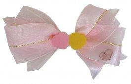 Imagem - Laço de Fita Infantil Rosa com Corações