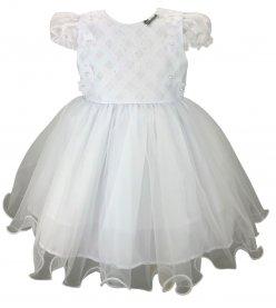 Imagem - Vestido Bebê Cattai Batizado com Flores