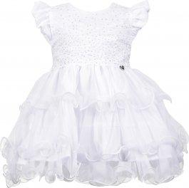 Imagem - Vestido Bebê Cattai Branco de Babados