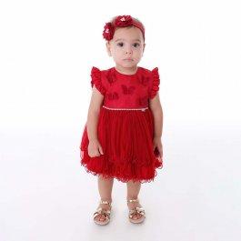 Imagem - Vestido Bebê Cattai com Borboletas 3D