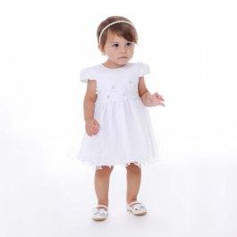 Imagem - Vestido Bebê Cattai Com Flores e Strass