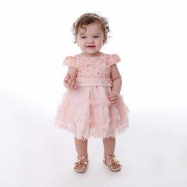 Imagem - Vestido Bebê Cattai com Pregas na Cintura