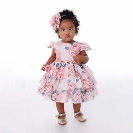 Imagem - Vestido Bebê Cattai de Babados Floral