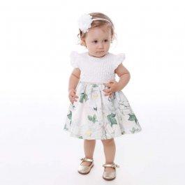 Imagem - Vestido Bebê Cattai Peito com Nervura