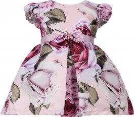 Imagem - Vestido Bebê Floral com Laço