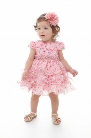 Imagem - Vestido Bebê Plinc Ploc com Babados Rosa