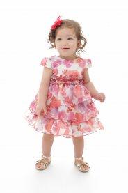 Imagem - Vestido Bebê Plinc Ploc com Babados