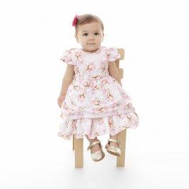 Imagem - Vestido Bebê Plinc Ploc Flores e Ursos
