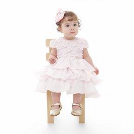 Imagem - Vestido Bebê Plinc Ploc Rosa com Estrelas 3D