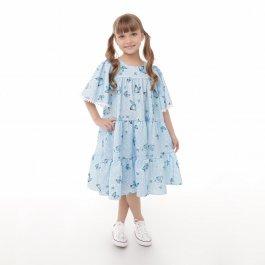 Imagem - Vestido Infantil Cattai Azul e Borboletas