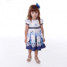 Imagem - Vestido Infantil Cattai Borboletas Azul