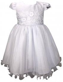 Imagem - Vestido Infantil Cattai Branco com Flores no Peito