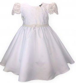 Imagem - Vestido Infantil Cattai Branco com Renda
