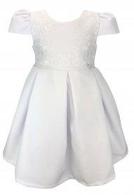 Imagem - Vestido Infantil Cattai Branco com Saia de Pregas