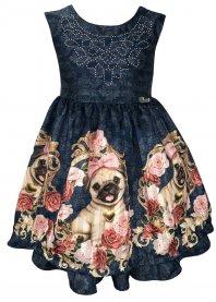 Imagem - Vestido Infantil Cattai Cachorros