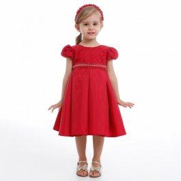 Imagem - Vestido Infantil Cattai com Cinto Bordado