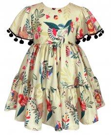 Imagem - Vestido Infantil Cattai com Pom Pom