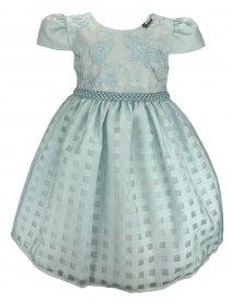 Imagem - Vestido Infantil Cattai com Saia Quadriculada