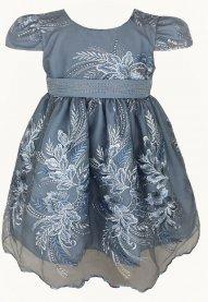 Imagem - Vestido Infantil Cattai de Renda Azul